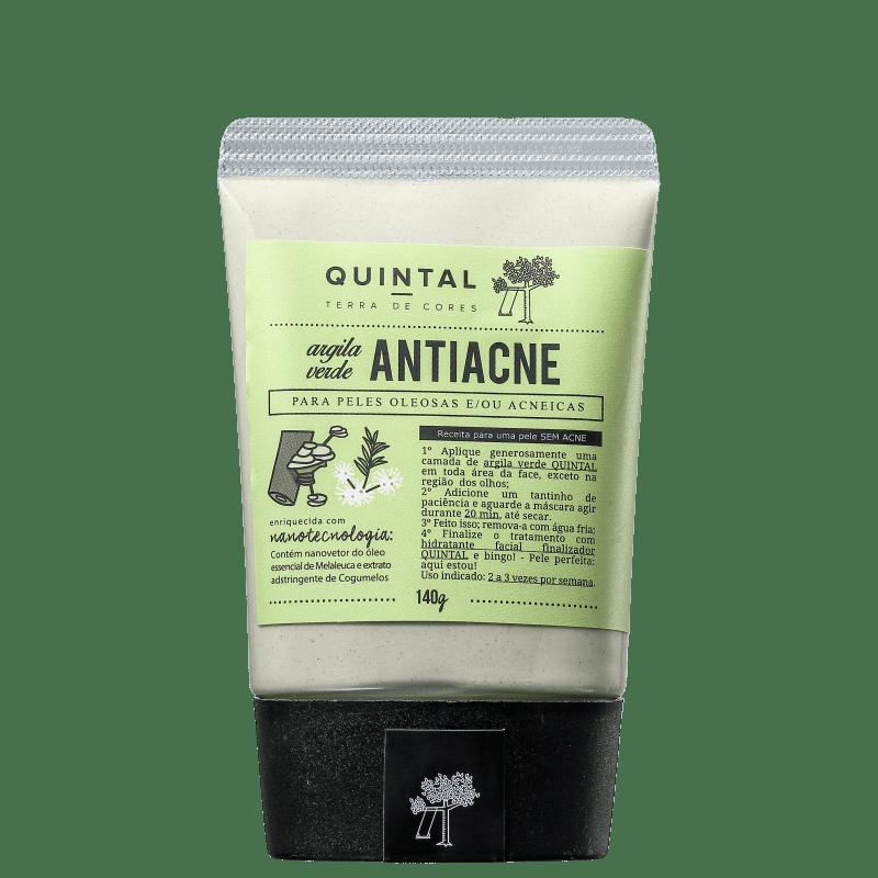 Quintal Argila Verde Antiacne - Máscara Facial 140g
