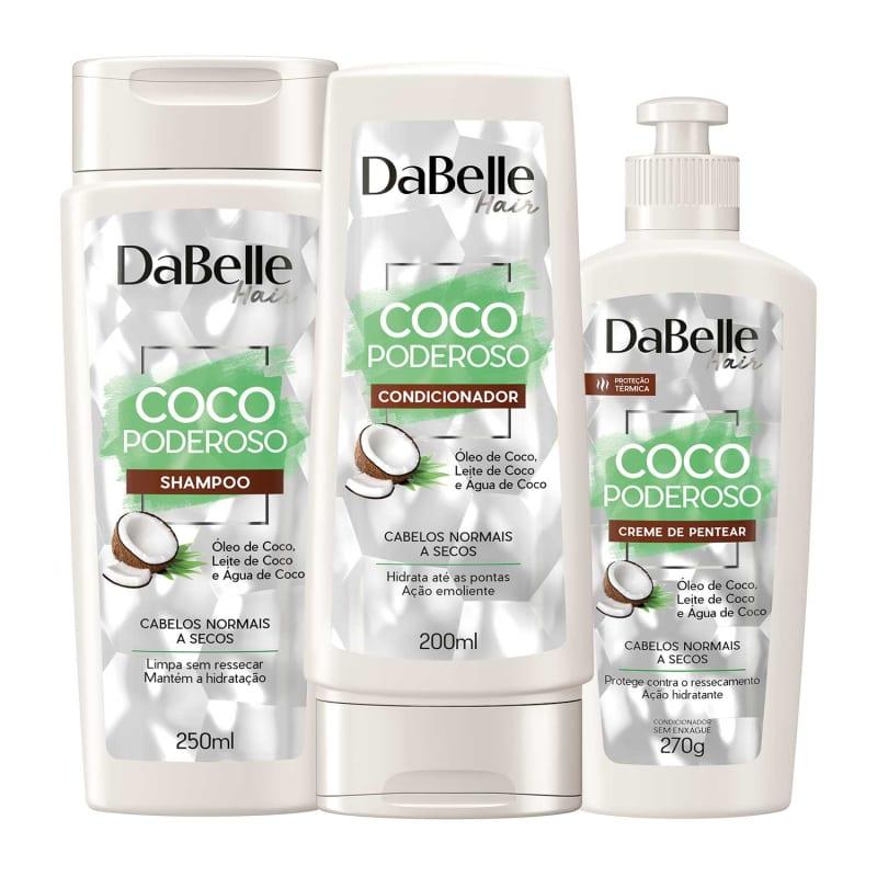 Kit DaBelle Hair Coco Poderoso Trio (3 Produtos)