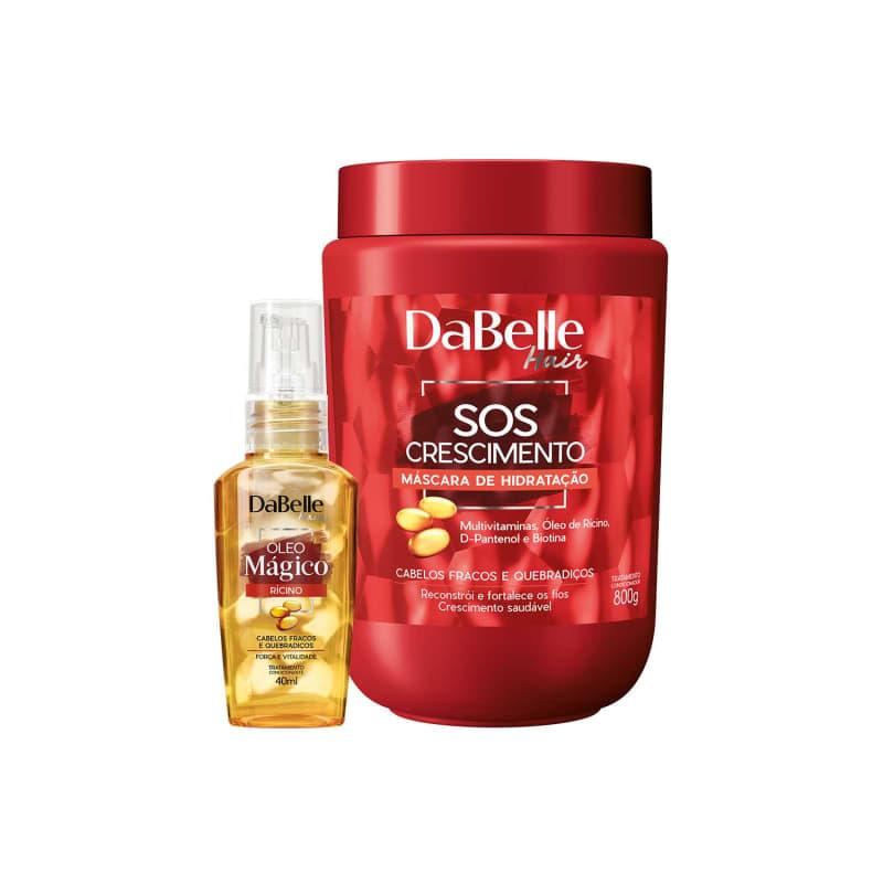 Kit DaBelle Hair SOS Crescimento Rícino Duo (2 Produtos)