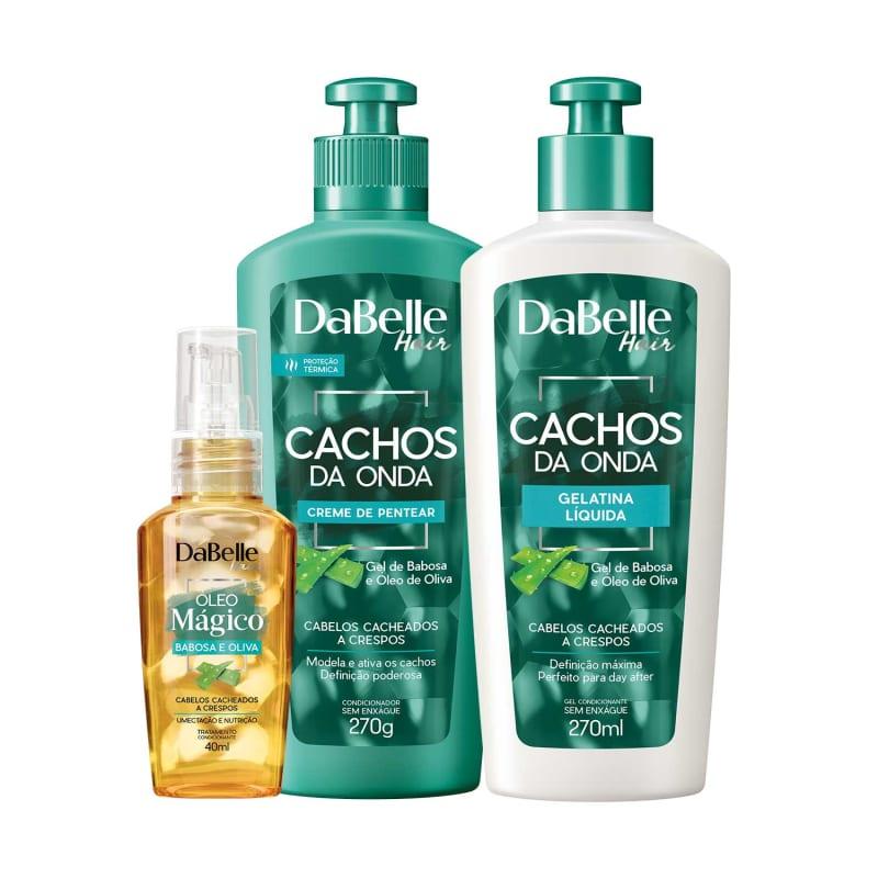 Kit DaBelle Hair Cachos da Onda Óleo Mágico Trio (3 Produtos)