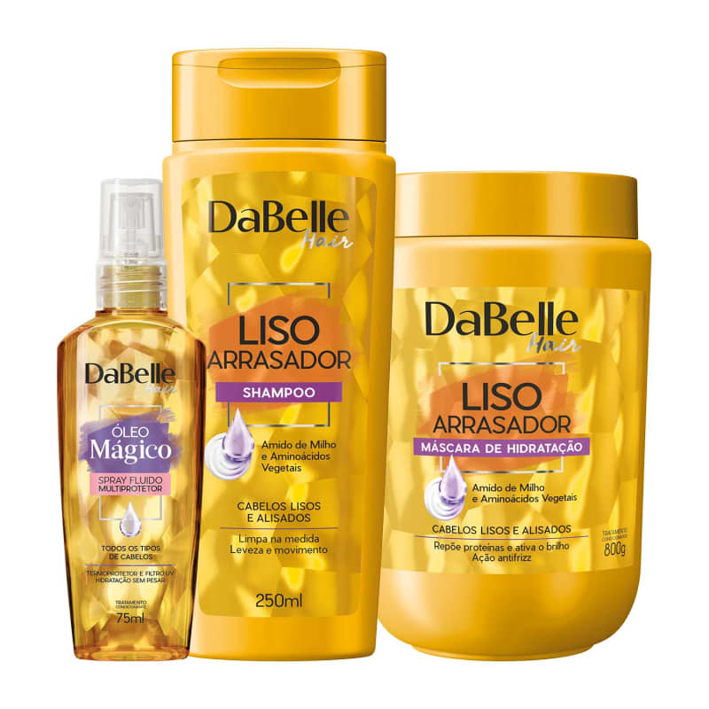 Kit DaBelle Hair Liso Arrasador Multiprotetor Trio (3 Produtos)