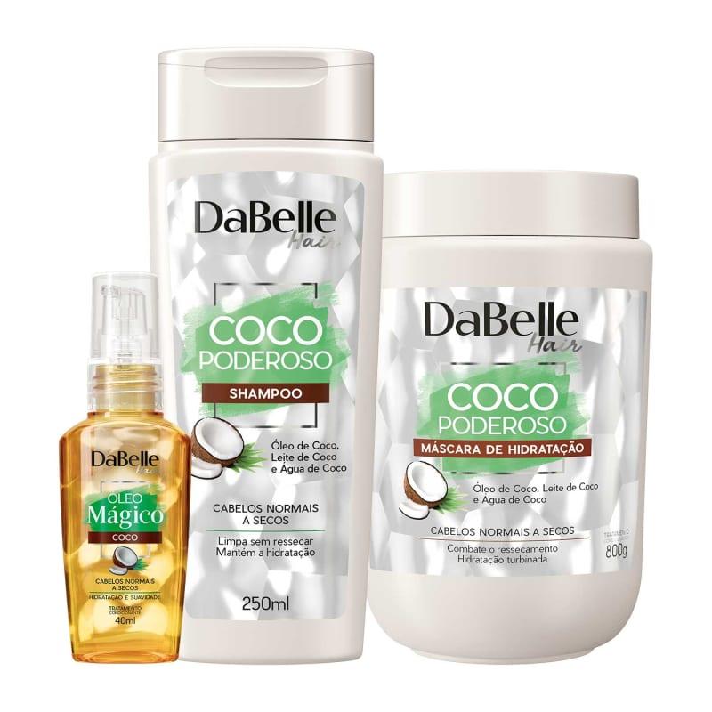 Kit DaBelle Hair Coco Poderoso e Mágico Trio (3 Produtos)