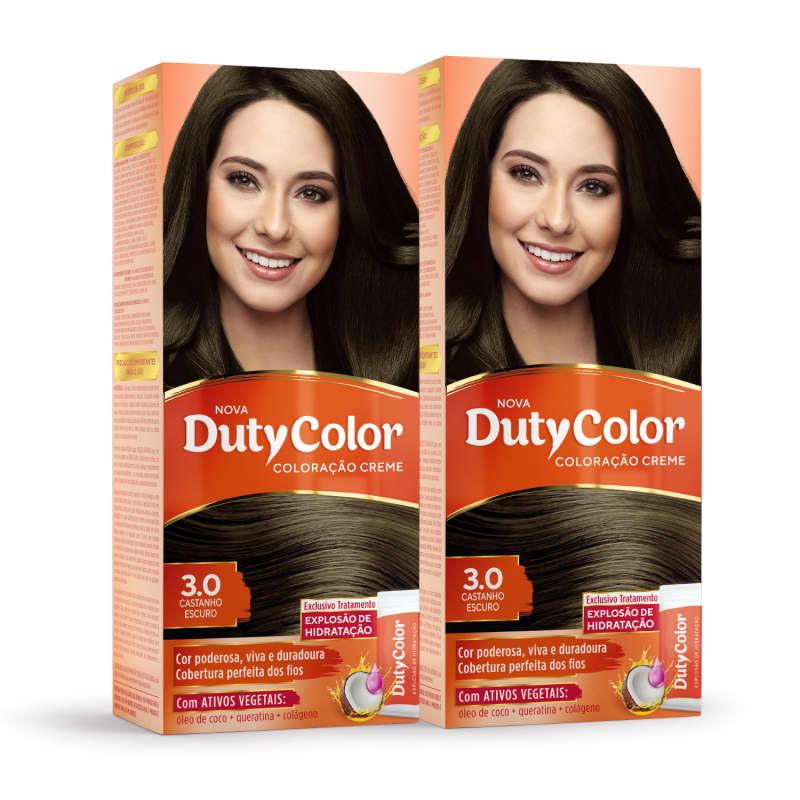 Kit DutyColor 3.0 Castanho Escuro Duo - Coloração Permanente (2 Unidades)