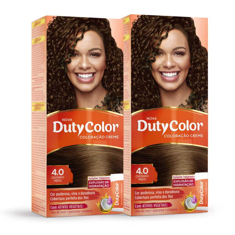 Kit DutyColor 4.0 Castanho Médio Duo - Coloração Permanente (2 Unidades)