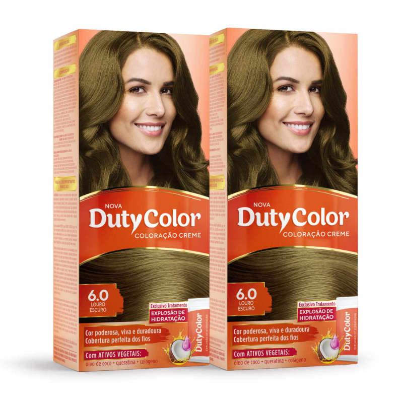 Kit DutyColor 6.0 Louro Escuro Duo - Coloração Permanente (2 Unidades)