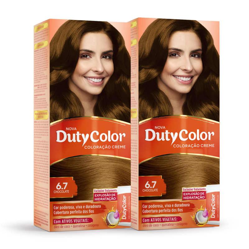 Kit DutyColor 6.7 Chocolate Duo - Coloração Permanente (2 Unidades)