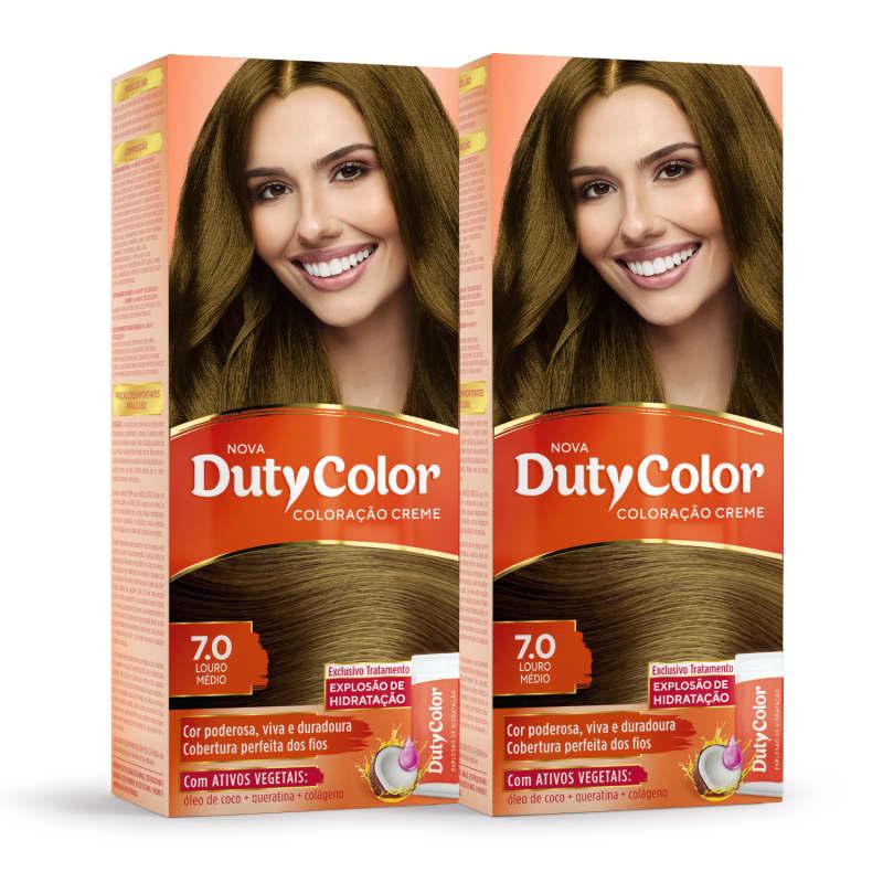 Kit DutyColor 7.0 Louro Médio Duo - Coloração Permanente (2 Unidades)