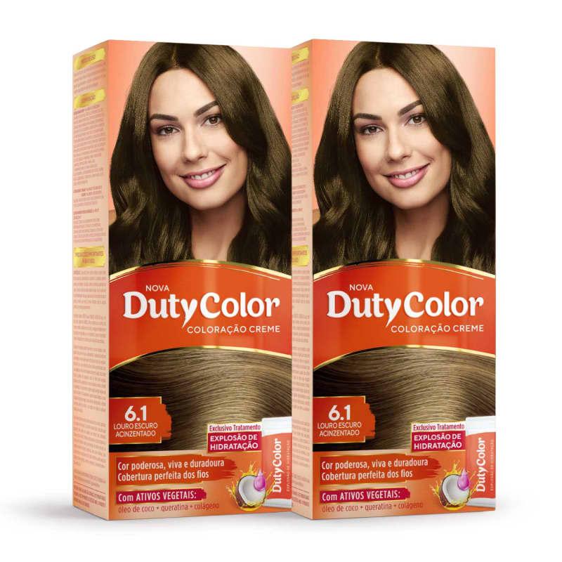 Kit DutyColor 6.1 Louro Escuro Acinzentado Duo - Coloração Permanente (2 Unidades)