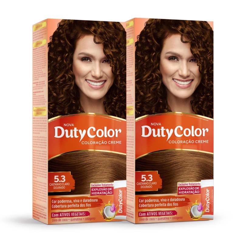 Kit DutyColor 5.3 Castanho Claro Dourado Duo - Coloração Permanente (2 Unidades)