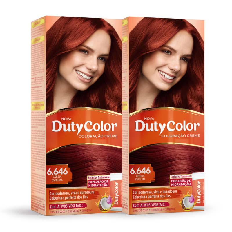 Kit DutyColor 6.646 Cereja Especial Duo - Coloração Permanente (2 Unidades)