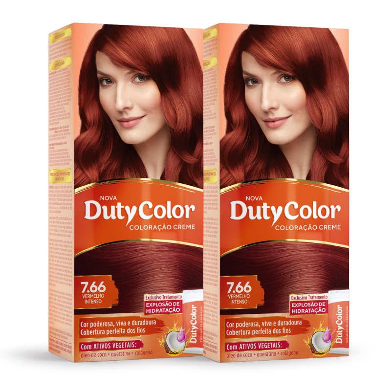 Kit DutyColor 7.66 Vermelho Intenso Duo - Coloração Permanente (2 Unidades)