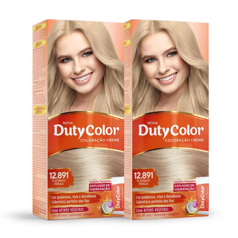 Kit DutyColor 12.891 Platinado Pérola Duo - Coloração Permanente (2 Unidades)