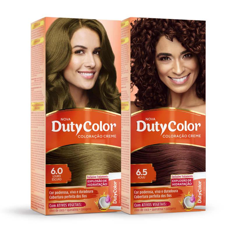 Kit DutyColor 6.0 Louro Escuro & 6.5 Acaju - Coloração Permanente (2 Unidades)