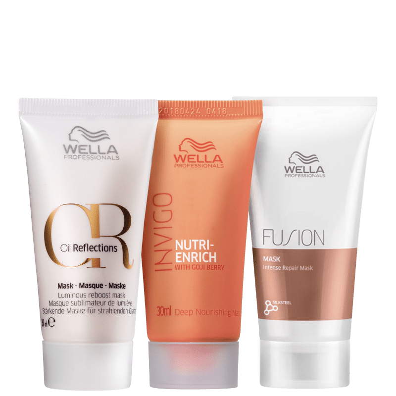 Kit Wella Professionals Triple Mini Masks (3 Produtos)