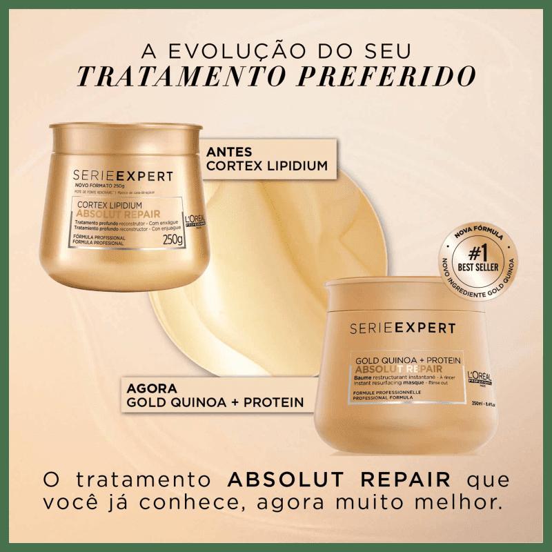 L'Oréal Professionnel Serie Expert Absolut Repair Gold Quinoa + Protein Golden Lightweight - Máscara Capilar 250ml