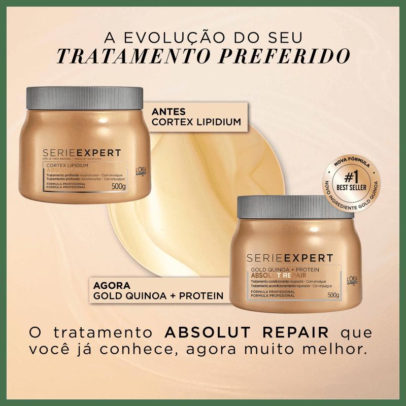 L'Oréal Professionnel Serie Expert Absolut Repair Gold Quinoa + Protein Golden Lightweight - Máscara Capilar 500ml