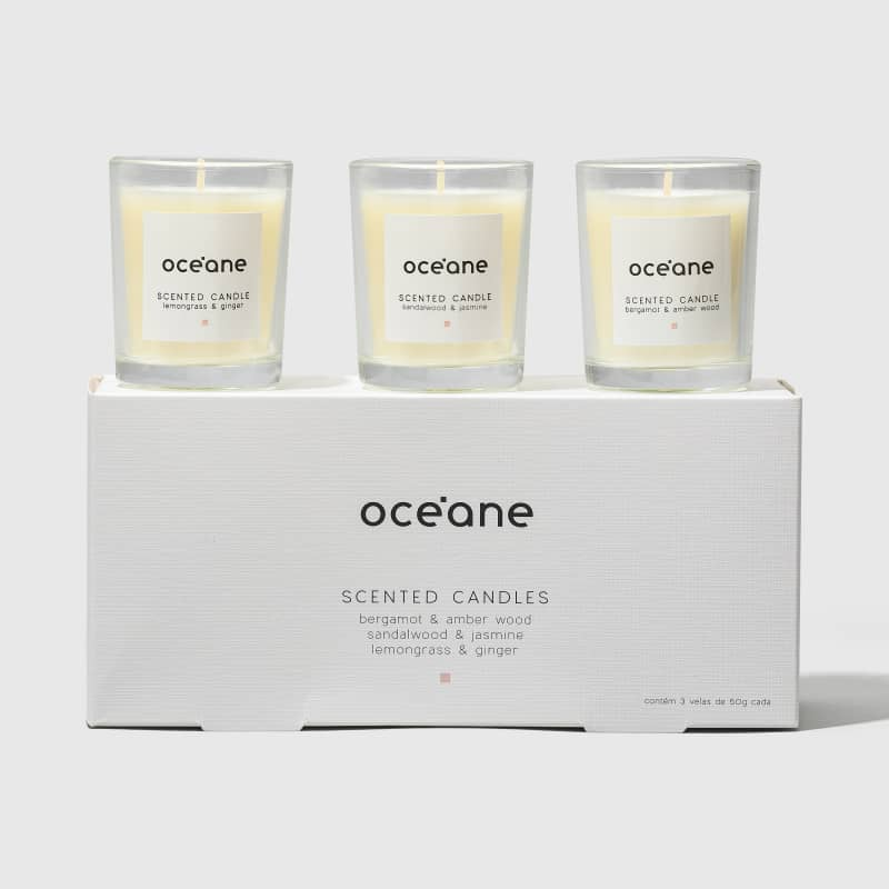 Scented Candles - Kit de Velas 3UN 50g cada