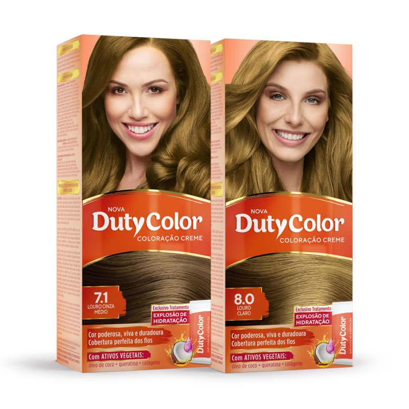 Kit DutyColor Paolla Oliveira 7.1 + 8.0 - Coloração Permanente (2 Unidades)