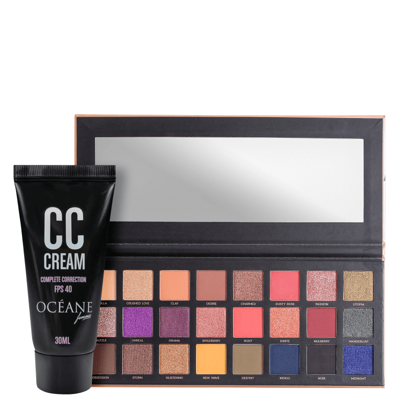 Kit Océane 24 Eyeshadow Palette & CC Cream (2 Produtos)