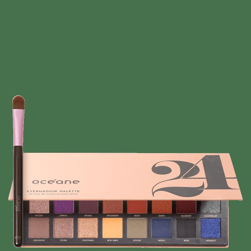 Kit Océane 24 Eyeshadow Palette & Pincel (2 Produtos)
