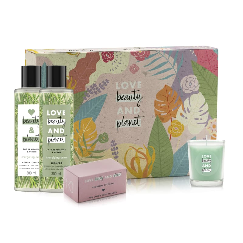 Kit Love Beauty and Planet Energizing Detox 300ml (5 Produtos)