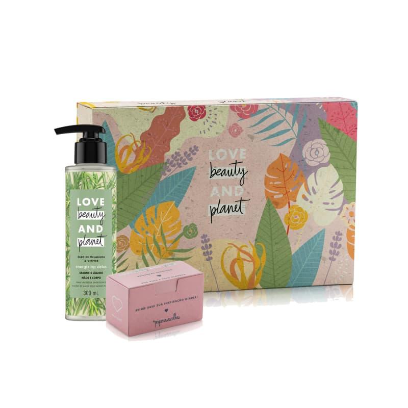 Kit Love Beauty and Planet Energizing Detox 300ml e Caixa Mensagem (3 produtos)