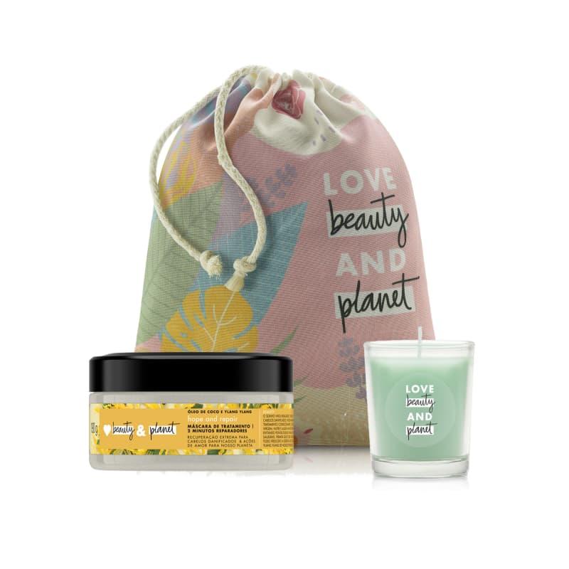 Kit Love Beauty and Planet Máscara Hope & Repair 300ml e Vela (3 produtos)