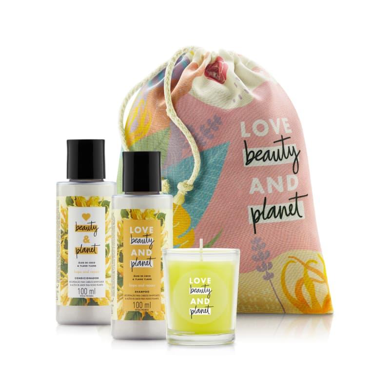 Kit Love Beauty & Planet Hope & Repair 100 ml e Vela (4 produtos)