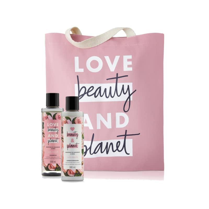Kit Love Beauty and Planet Curls Intensify 300 ml e Ecobag (3 produtos)