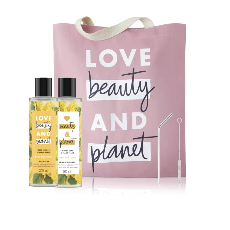 Kit Love Beauty and Planet hope & repair 300 ml (4 produtos)