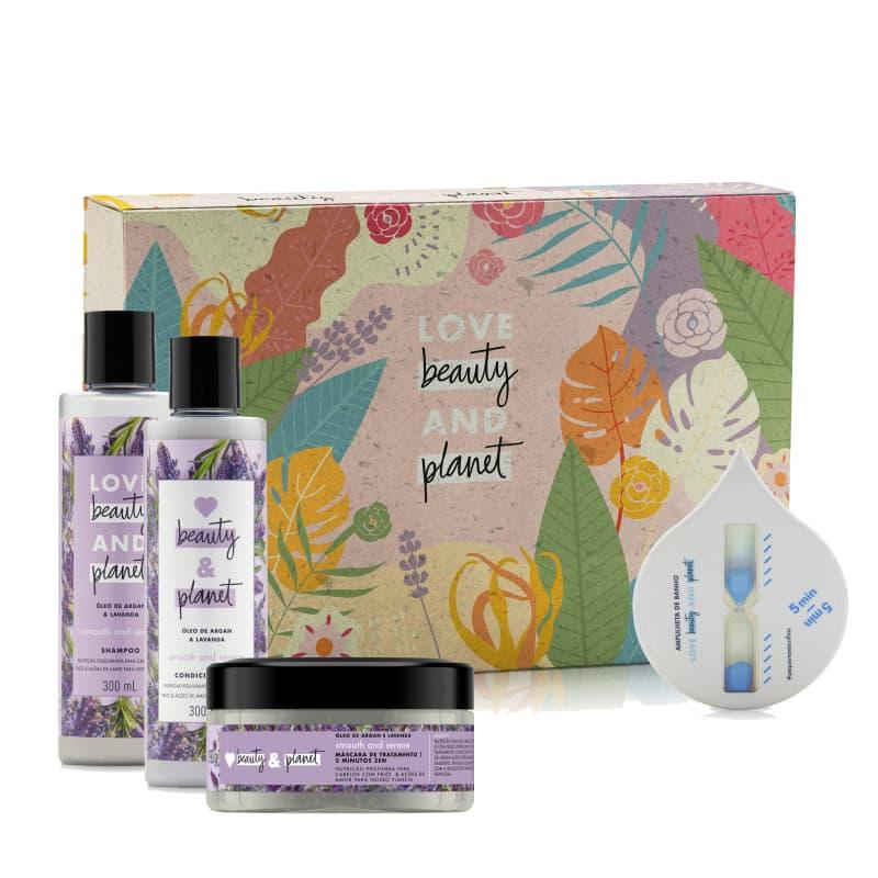 Kit Love Beauty and Planet Smooth & Serene Ampulheta (5 produtos)