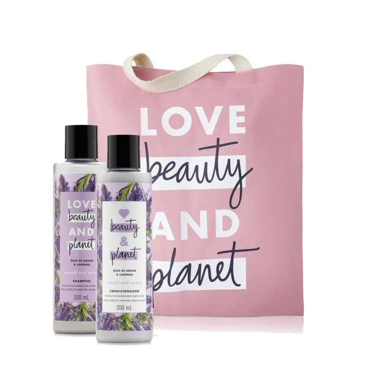 Kit Love Beauty and Planet Smooth & Serene 300ml em Ecobag (3 produtos)