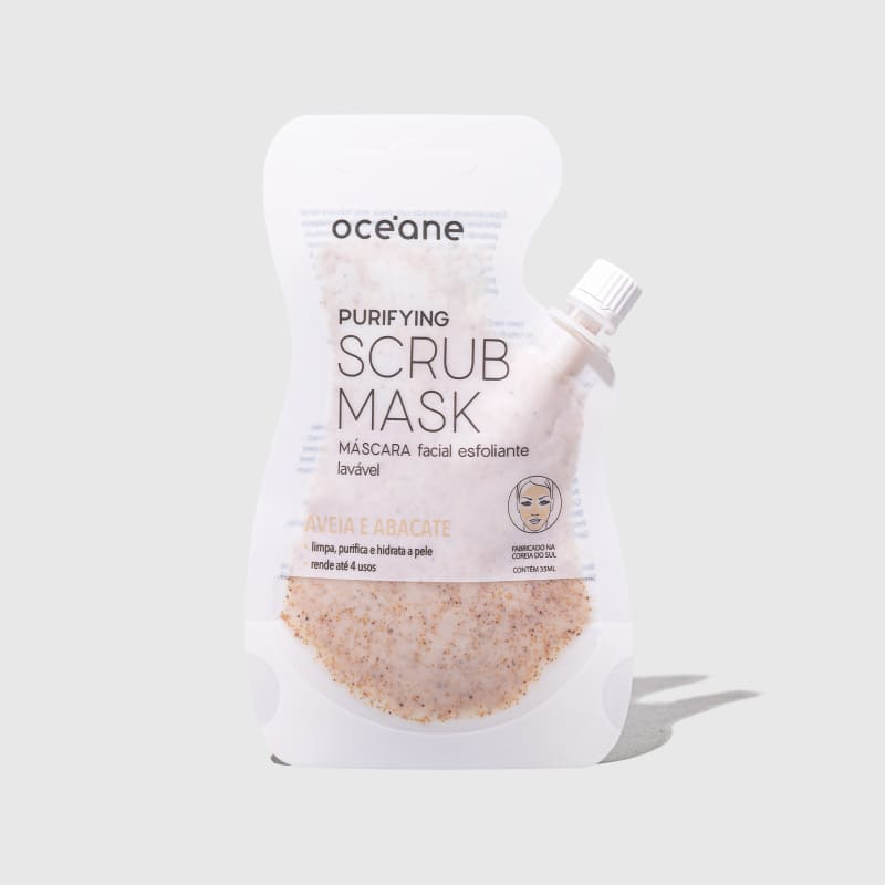 Purifying Scrub Mask - Máscara Facial Esfoliante Lavável