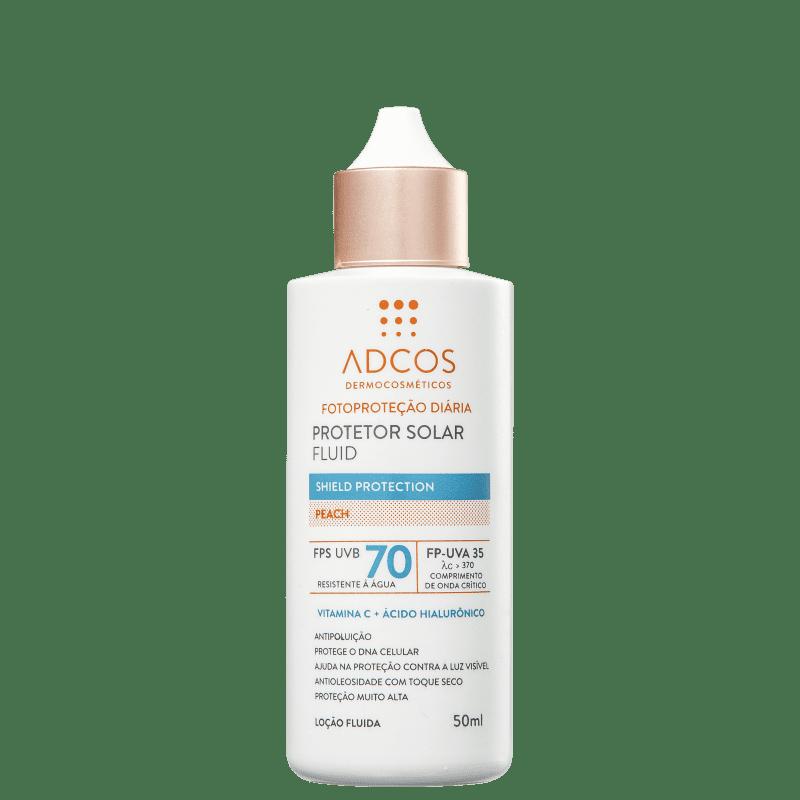 ADCOS Fotoproteção Diária Fluid Peach FPS 70 - Protetor Solar 50ml