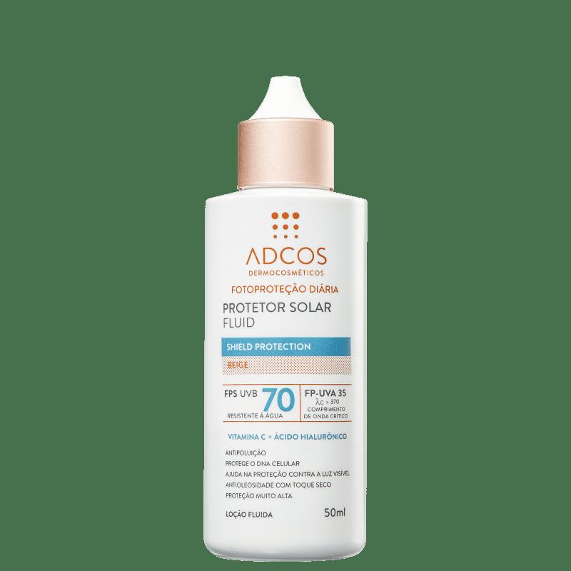 ADCOS Fotoproteção Diária Fluid Beige FPS 70 - Protetor Solar 50ml