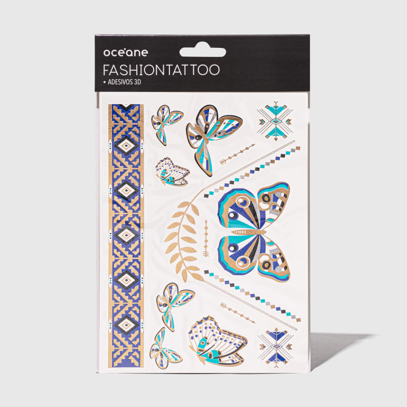Fashion Tattoo - Tatuagem temporária FT10