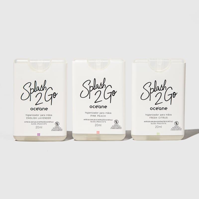 Kit Splash 2GO - Higienizador para Mãos (3 produtos)
