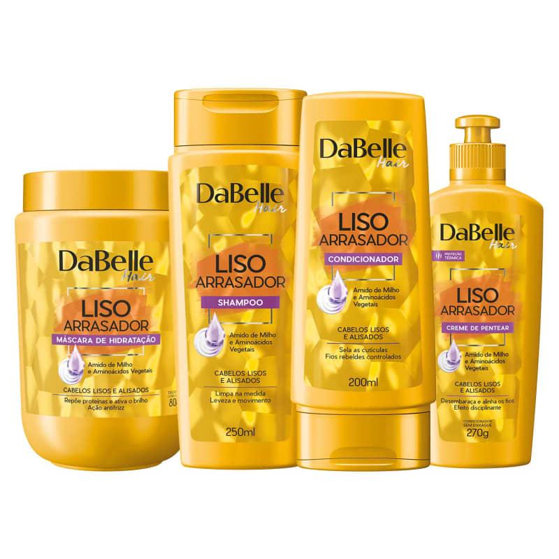 Kit DaBelle Hair Liso Arrasador (4 Produtos)