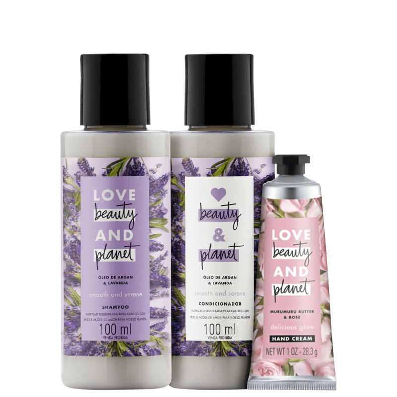 Kit Love Beauty and Planet Smooth & Serene 100ml e Creme de Mão Smooth & Serene