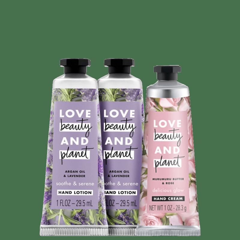Kit Love, Beauty and Planet - Creme de mãos Delicious Glow + Creme de mãos Soothe and Serene