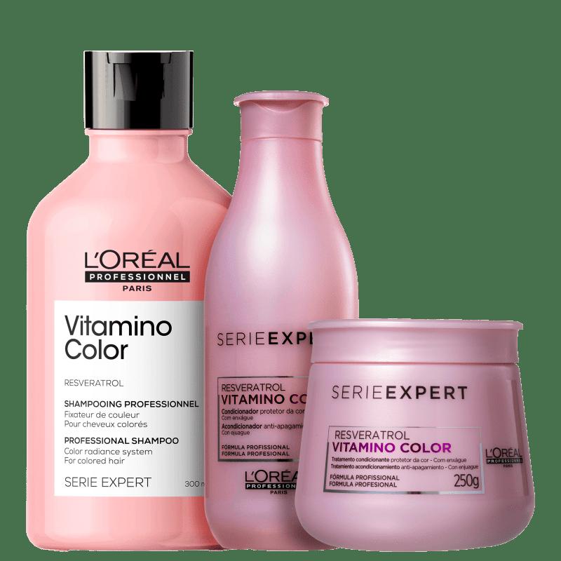 Kit L'Oréal Professionnel Serie Expert Vitamino Color Resveratrol Trio (3 Produtos)