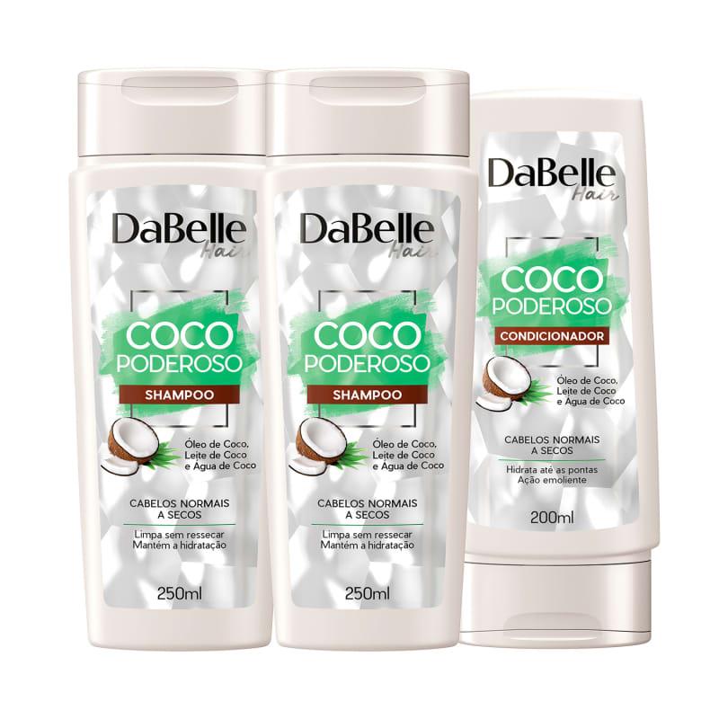 Kit DaBelle Hair Coco Poderoso Trio Basic (3 Produtos)