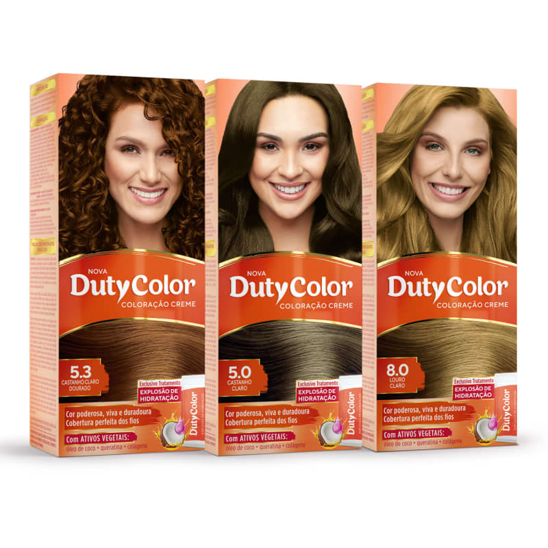 Kit DutyColor Cores da Rafa Kalimann 5.0 + 5.3 + 8.0 - Coloração Permanente (3 Unidades)