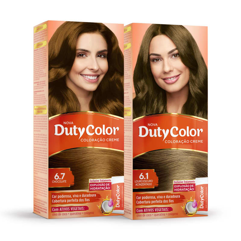 Kit DutyColor Chocolate Frio 6.7 + 6.1 - Coloração Permanente (2 Unidades)