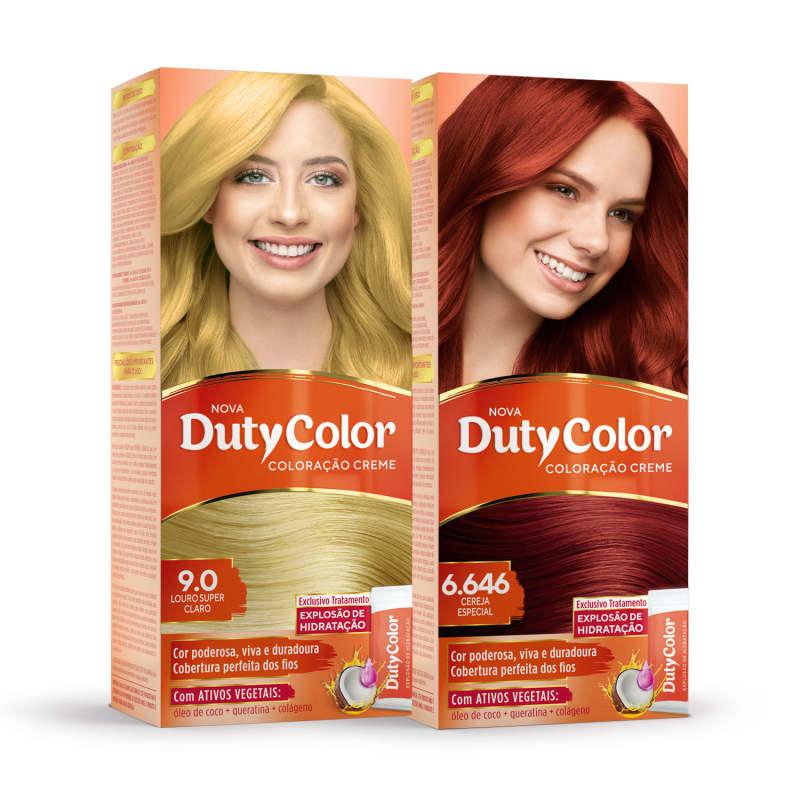 Kit DutyColor Vermelho Ruivo 9.0 + 6.646 - Coloração Permanente (2 Unidades)