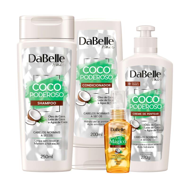 Kit DaBelle Hair Coco Poderoso (4 Produtos)