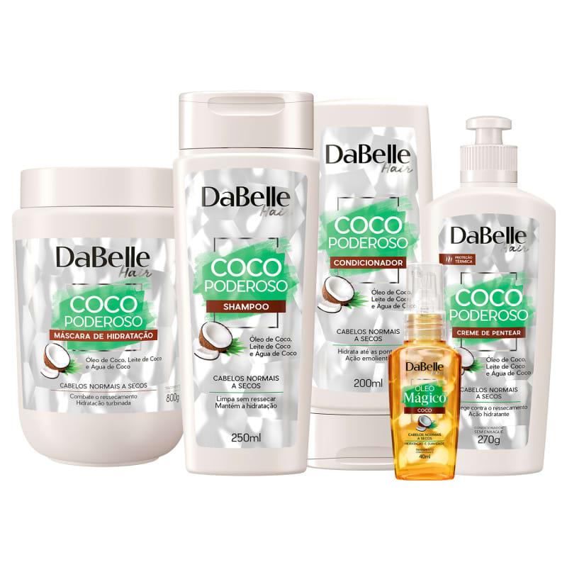 Kit DaBelle Hair Coco Poderoso Full (5 Produtos)