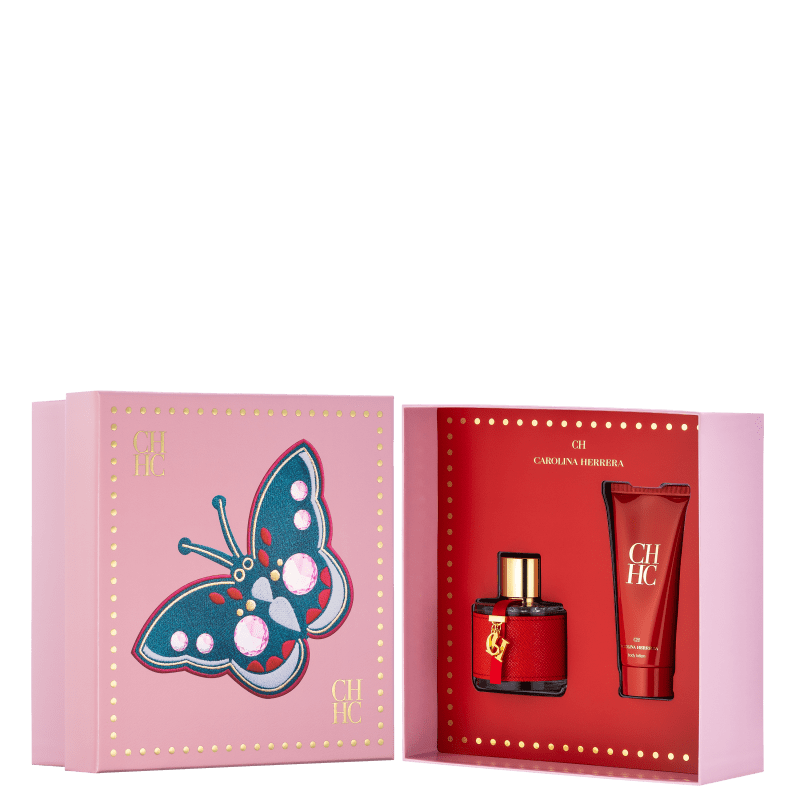 Conjunto Carolina Herrera CH Eau de Toilette - Perfume 100ml + Loção Corporal 100ml
