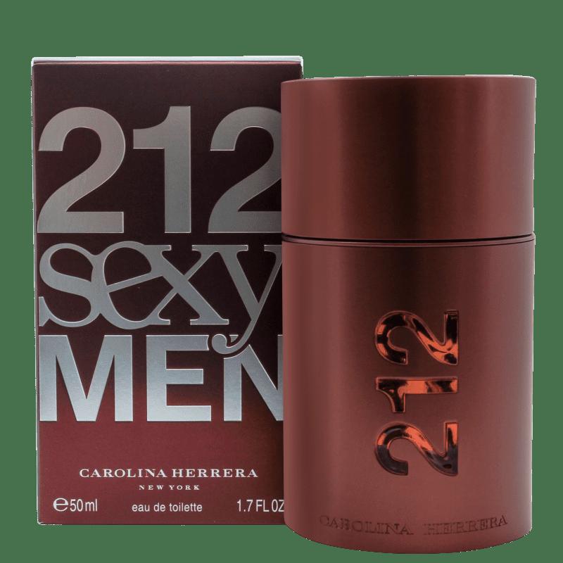 94c72446f 212 Sexy Men Carolina Herrera Eau de Toilette - Perfume Masculino 50ml