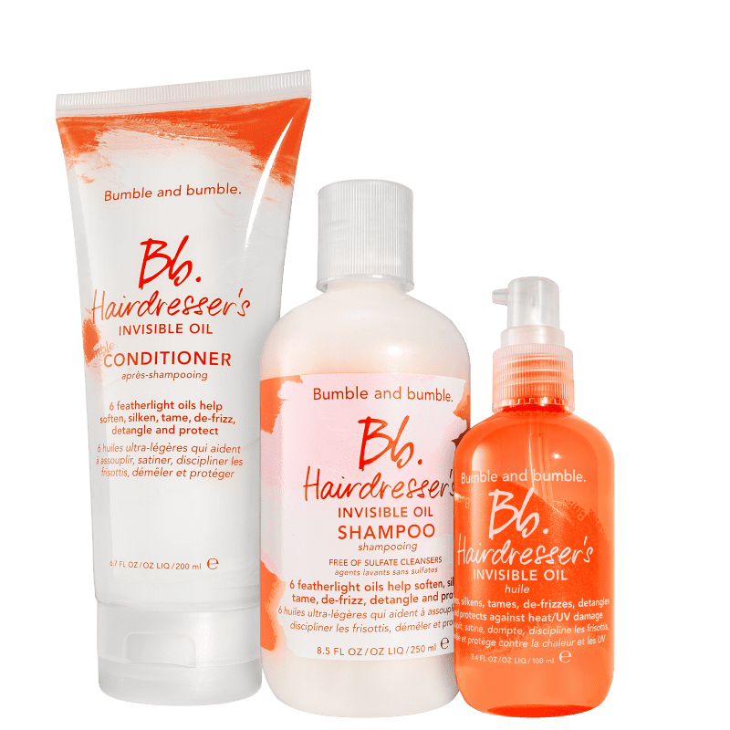 Kit Bumble and bumble Hairdresser's Invisible Oil Trio (3 Produtos)